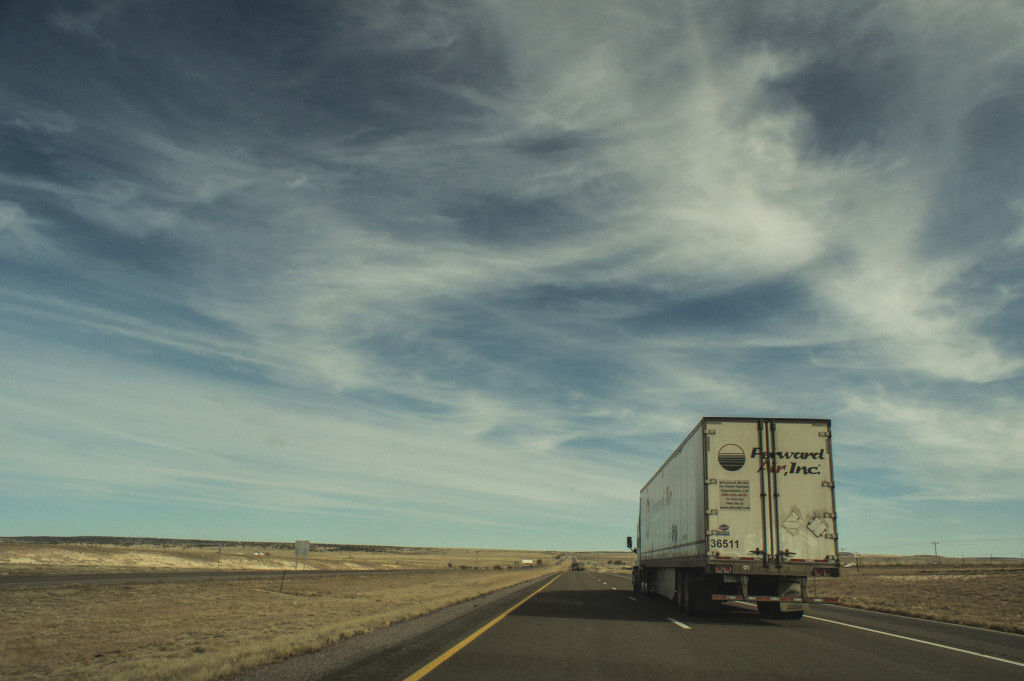 We mainly shared the open road with semis.