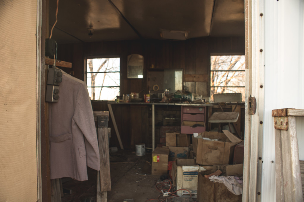The trailer homes were in huge disrepair, smelled awful, and were filled with soda cans.